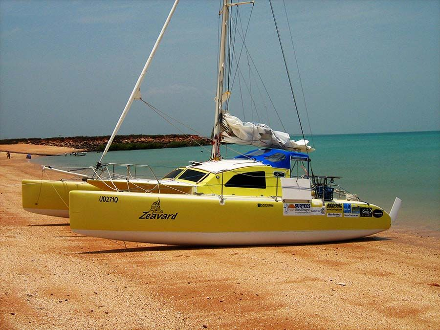 Surtees Multihull Designs - Trailerable Folding Catamarans