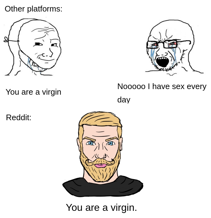Congrats You Have Been A Part Of The Meme Soyjaks Vs Chads Edgy Memes Stupid Memes Memes