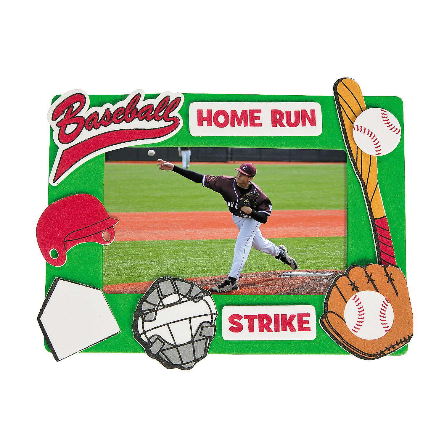 Baseball Picture Frame Craft Kit - OrientalTrading.com | Tyler\'s 4th ...