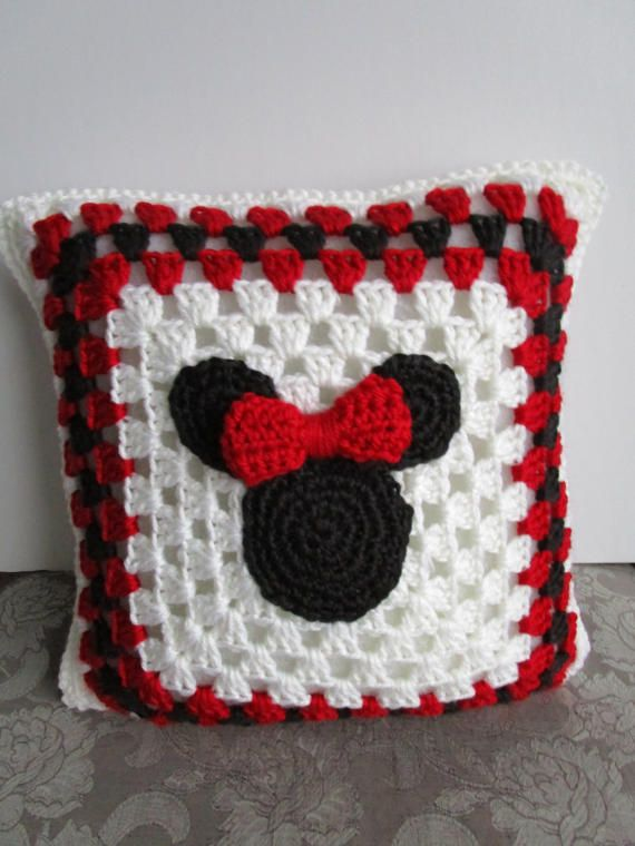 Minnie Mouse Crochet Blanket, Mickey Mouse Crochet Blanket, Minnie ...