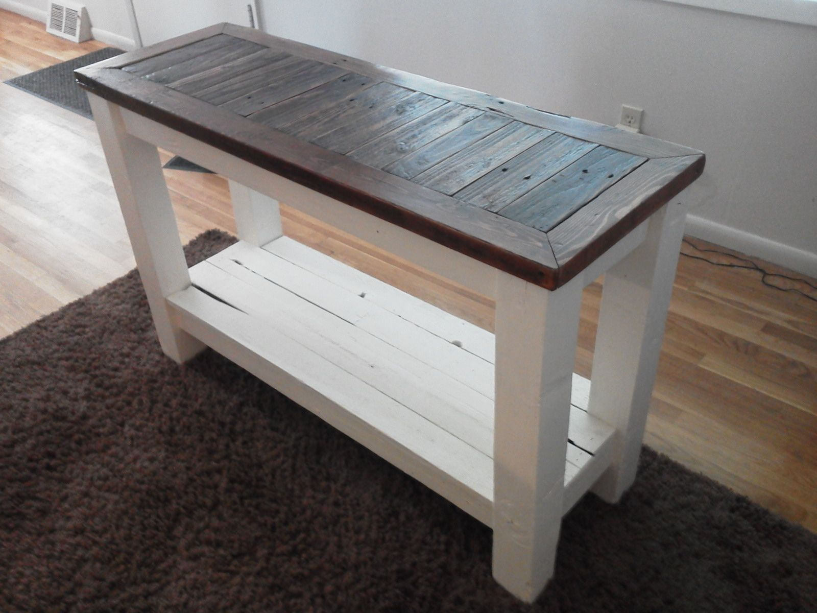 Sofa Entry Table Pallets And Reclaimed Wood
