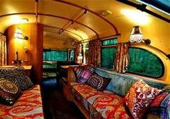 interior of short bus