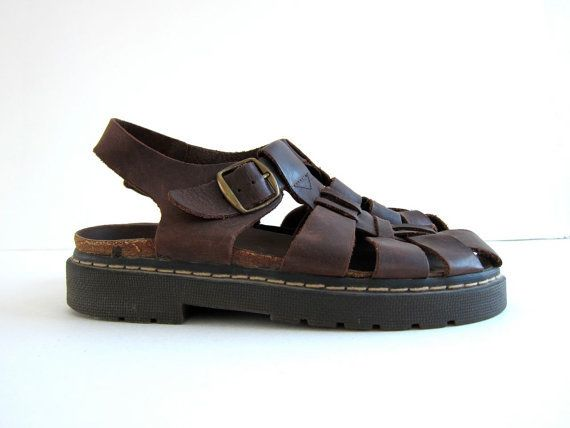 8d2d27d396a 90s chunky leather sandals. huaraches    women s size 6 on Wanelo ...