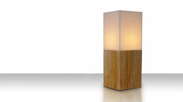 tischleuchten modern design attraktiv holz