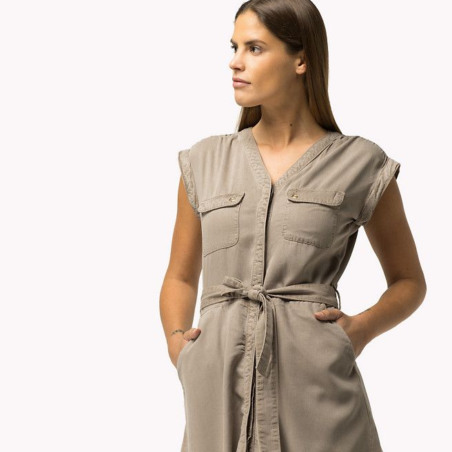 Tommy Hilfiger Tencel Dress - fallen rock (Grey) - Tommy Hilfiger Dresses - detail image 2