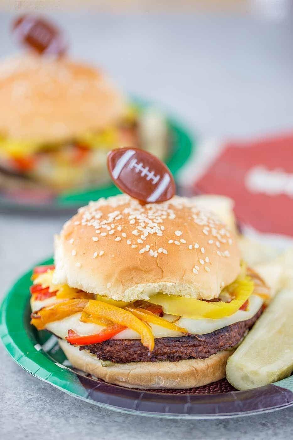 Italian Pepper Burgers Stuffed Peppers Plant Based Burgers Vegetarian Vegan Recipes