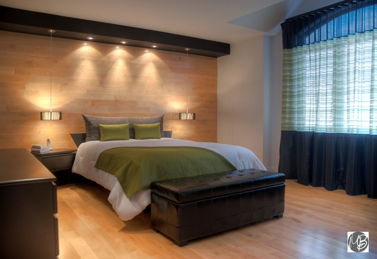 d coration chambre coucher avec mur de pierre. Black Bedroom Furniture Sets. Home Design Ideas