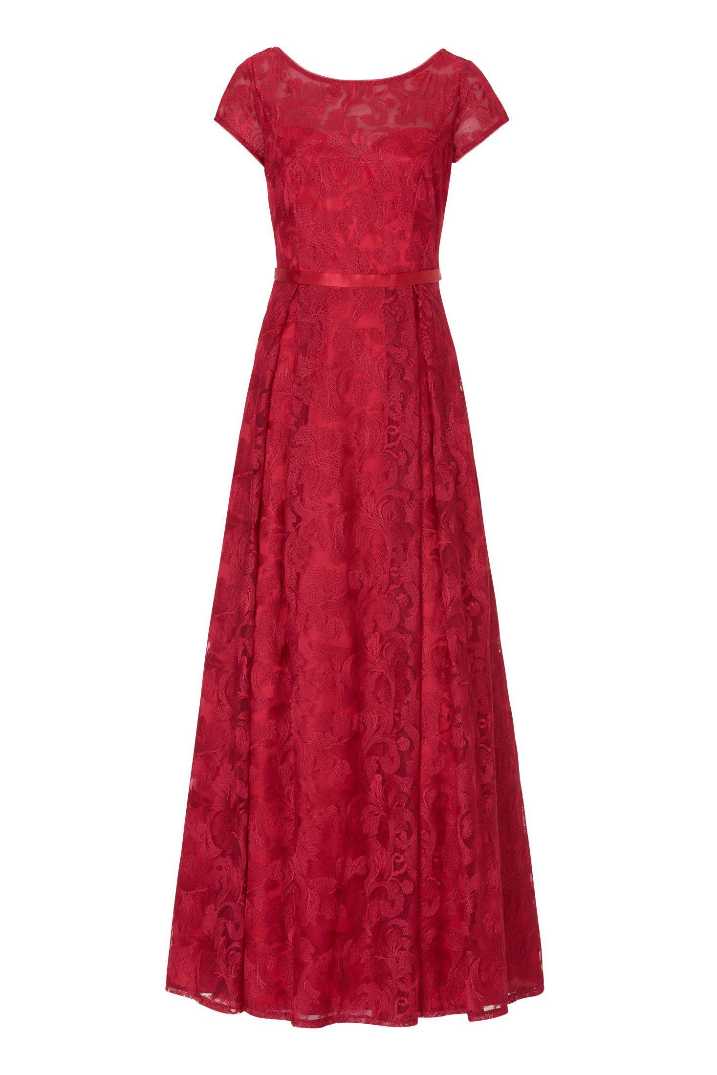 Langes Abendkleid aus besticktem Tüll Festliches Kleid von Vera