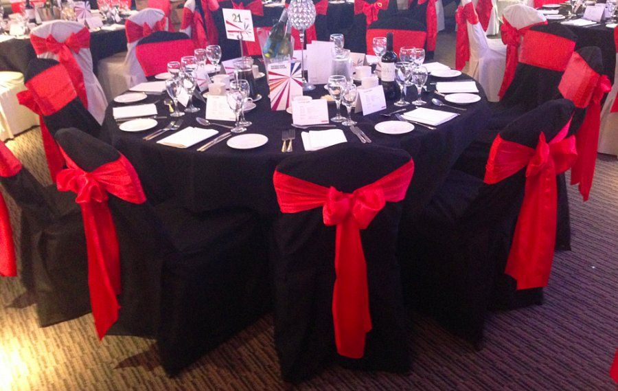 Chair Cover Hire Sash Bows Hire Wedding Table Swagging Venue