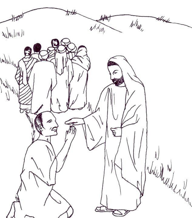 Image result for jesus heals the ten lepers coloring page | sunday ...