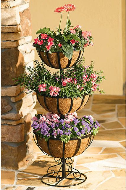 Three Tier Flower Pot Plant Stand Plant Decor Plant Stands Outdoor