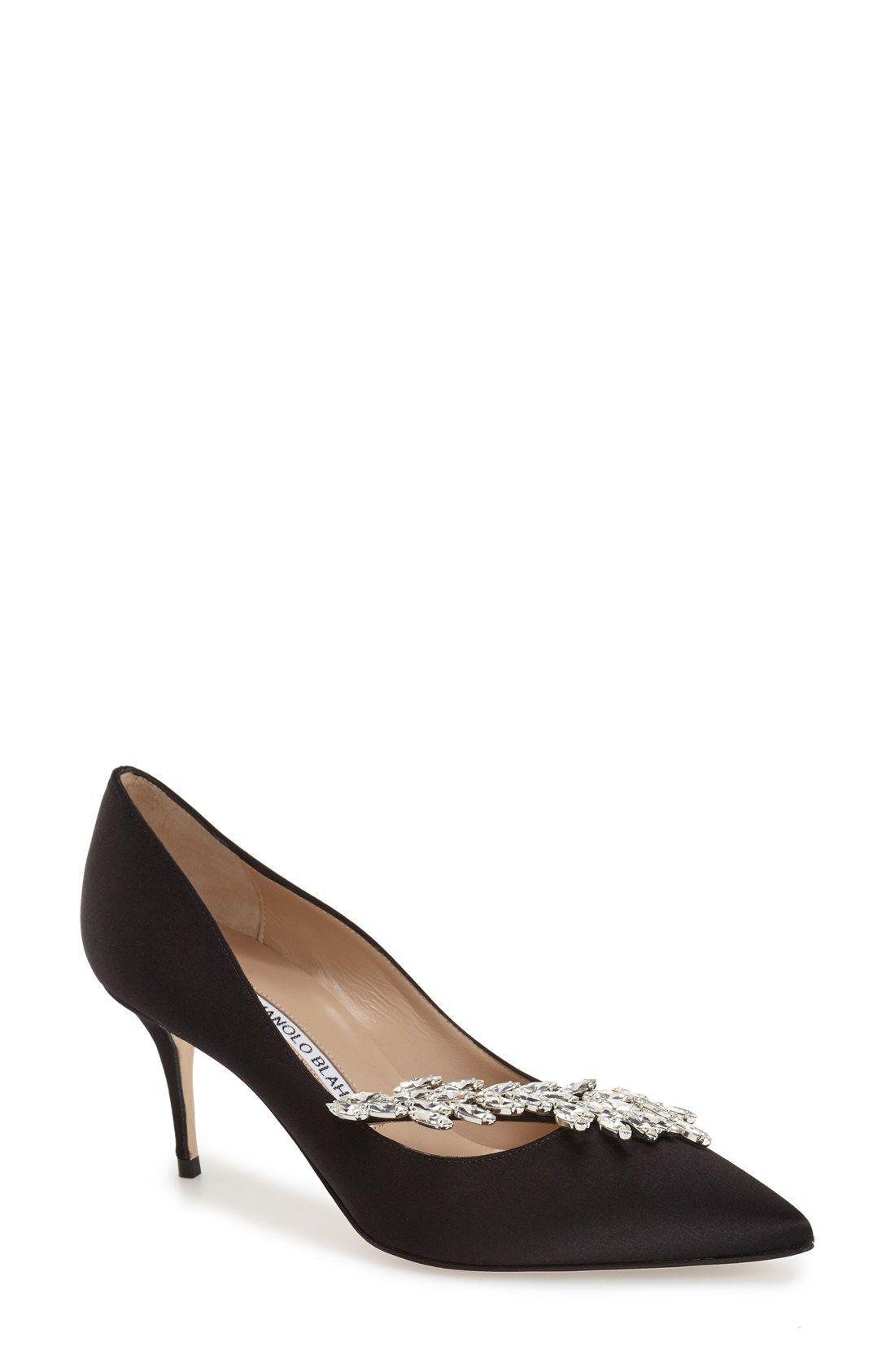 901301caa5bf Manolo Blahnik  Nadira  Crystal Embellished Pointy Toe Pump (Women)   ManoloblahnikHeels