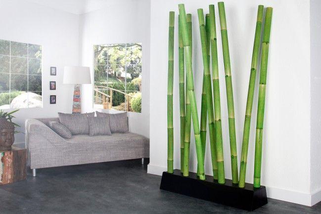Design Raumteiler Bamboo Grun Trennwand Dekoration Aus Bambus