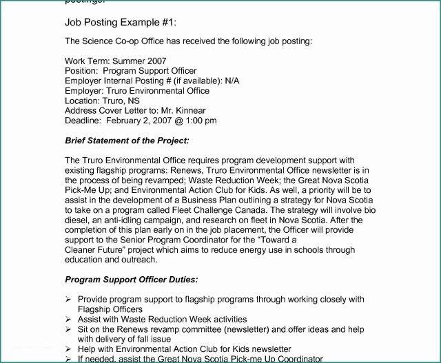 23 Cover Letter For Internal Position Job