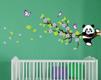 panda wandtattoos wandtattoo baum mit cherry blossom zweige wohnideen pinterest wandtattoo. Black Bedroom Furniture Sets. Home Design Ideas