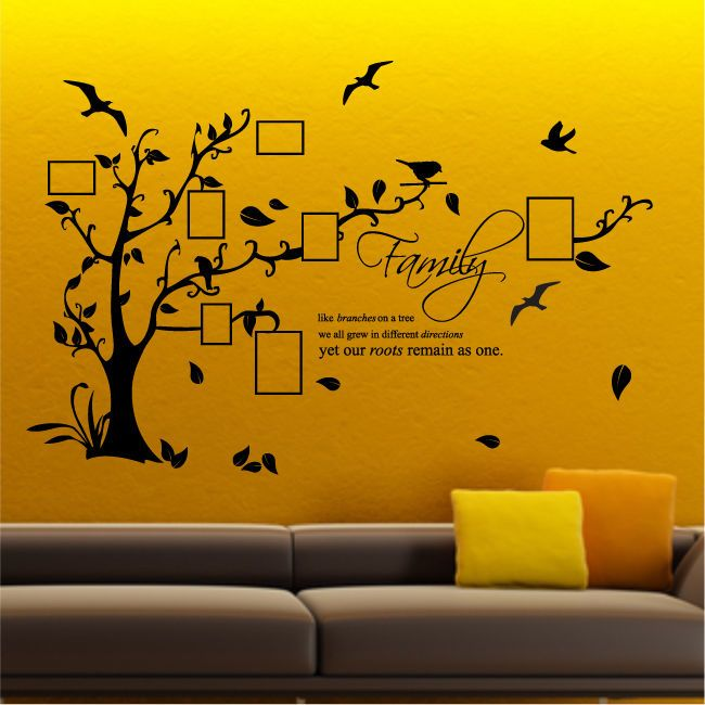 FAMILY TREE BIRD vinyl wall sticker bedroom decals stickers wall art ...