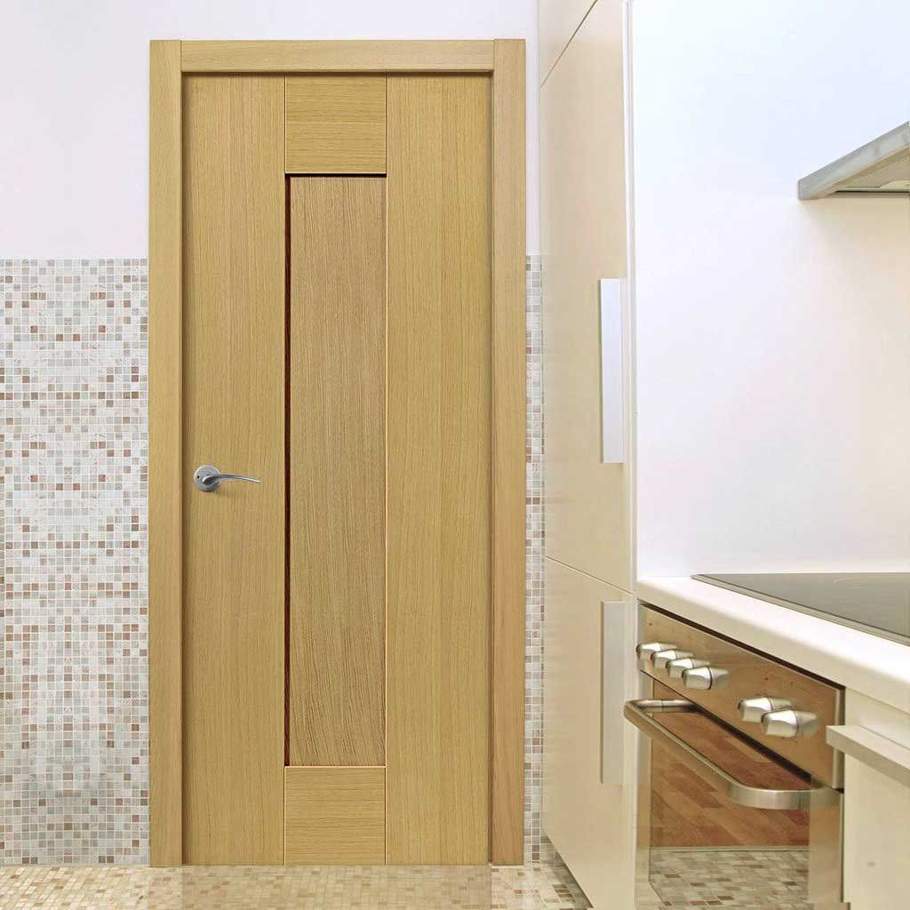 J B Kind Axis Oak Shaker Panel Door And Frame Kit Prefinished Bathroom Doors Fire Doors Panel Doors