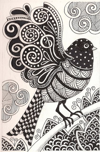 Zentangle Pattern Ideas | Zentangle Ideas & Patterns / Zentangle bird