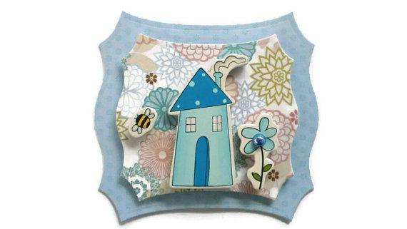 New Home Scrapbook Embellishment paper piecing by itsmemanon, $2.00