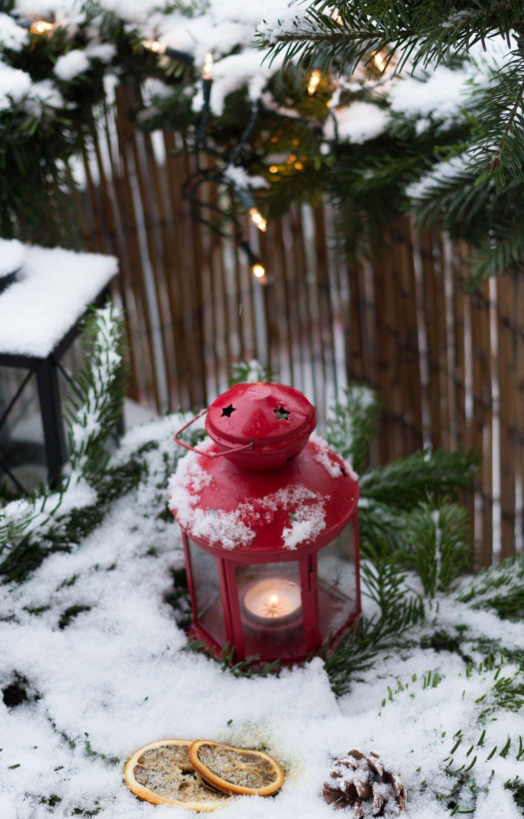 Weihnachtsdeko Für Balkongeländer.Weihnachtsdeko Für Den Balkon Garten Fräulein Weihnachtsdeko