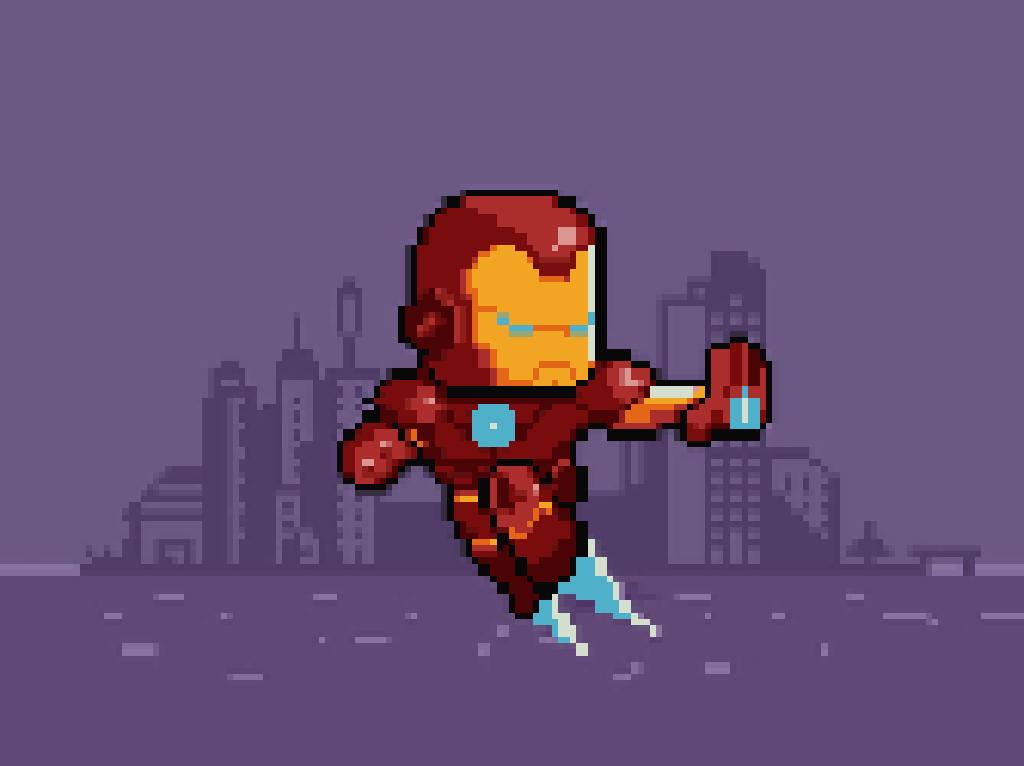 Pixelart Infinitywar Ironman Game Color Pixel Art Games Pixel Art Photo Pixel