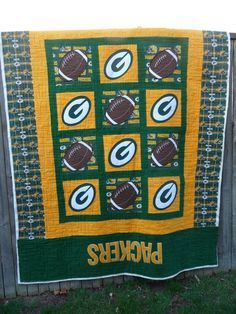 Green bay packer quilt | Quilts - baby | Pinterest | Quilt baby : green bay packers quilt - Adamdwight.com