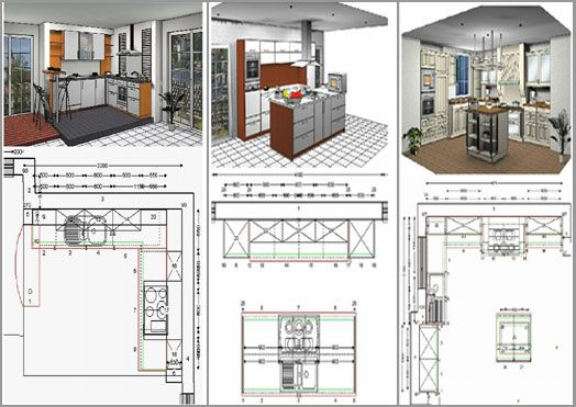 Small kitchen design layout and applying harmonious Free online kitchen design planner