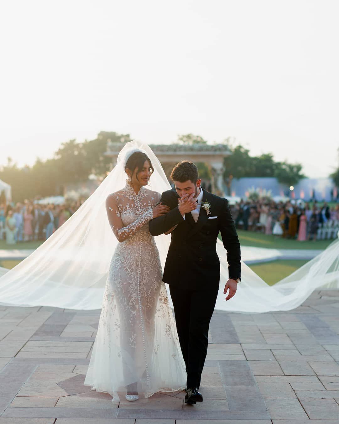 Priyanka Chopra And Nick Jonas Official Wedding Pics Are Here And Her Dresses Are Gorgeous Priyanka Chopra Wedding Western Wedding Dresses Wedding Dresses