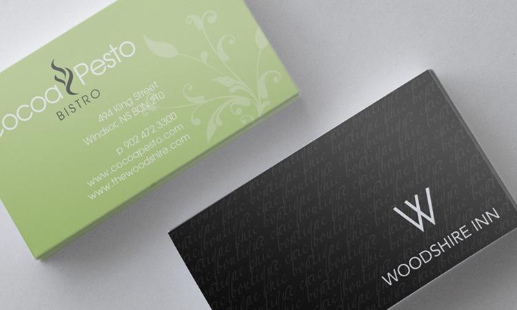 Woodshire Inn Bright Red Creative Branding Web Design Graphic Design Halifax Creative Branding Business Card Design Brand Identity Design
