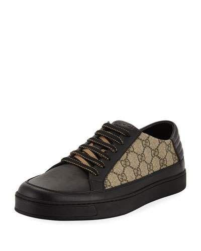 335dbe3ffe7 Gucci Men s Common GG Supreme Low-Top Sneakers