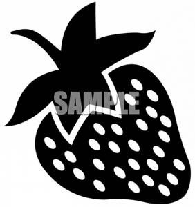 Clipart Of A Strawberry Silhouette Black N White Images Clip Art Black And White