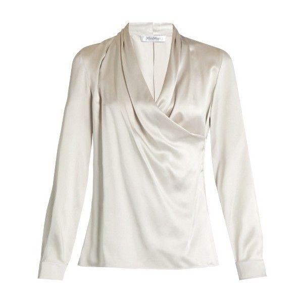e746c7a500abc4 Max Mara Vitalba blouse ( 635) ❤ liked on Polyvore featuring tops ...