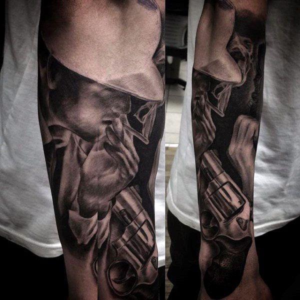 Top 49 Best Gangster Tattoo Ideas 2020 Inspiration Guide Gangster Tattoos Forearm Sleeve Tattoos Sleeve Tattoos