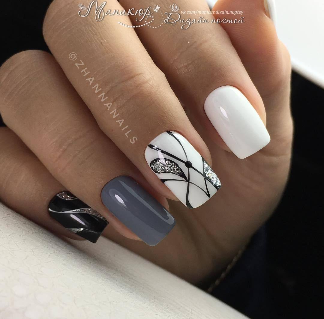 I love that black nail the most   The Nail Files   Pinterest   Black ...
