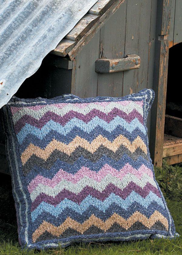 Kaffe Fassett zig zag cushion #free_pattern | Crochet ...