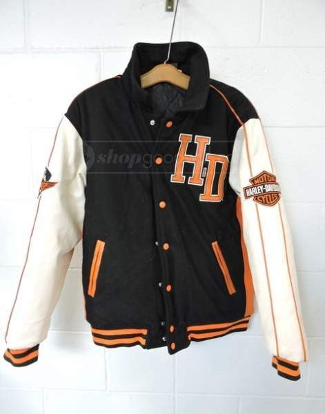 Velocitee Baseball Varsity Jacket Classic American Motorcycle Biker A22525