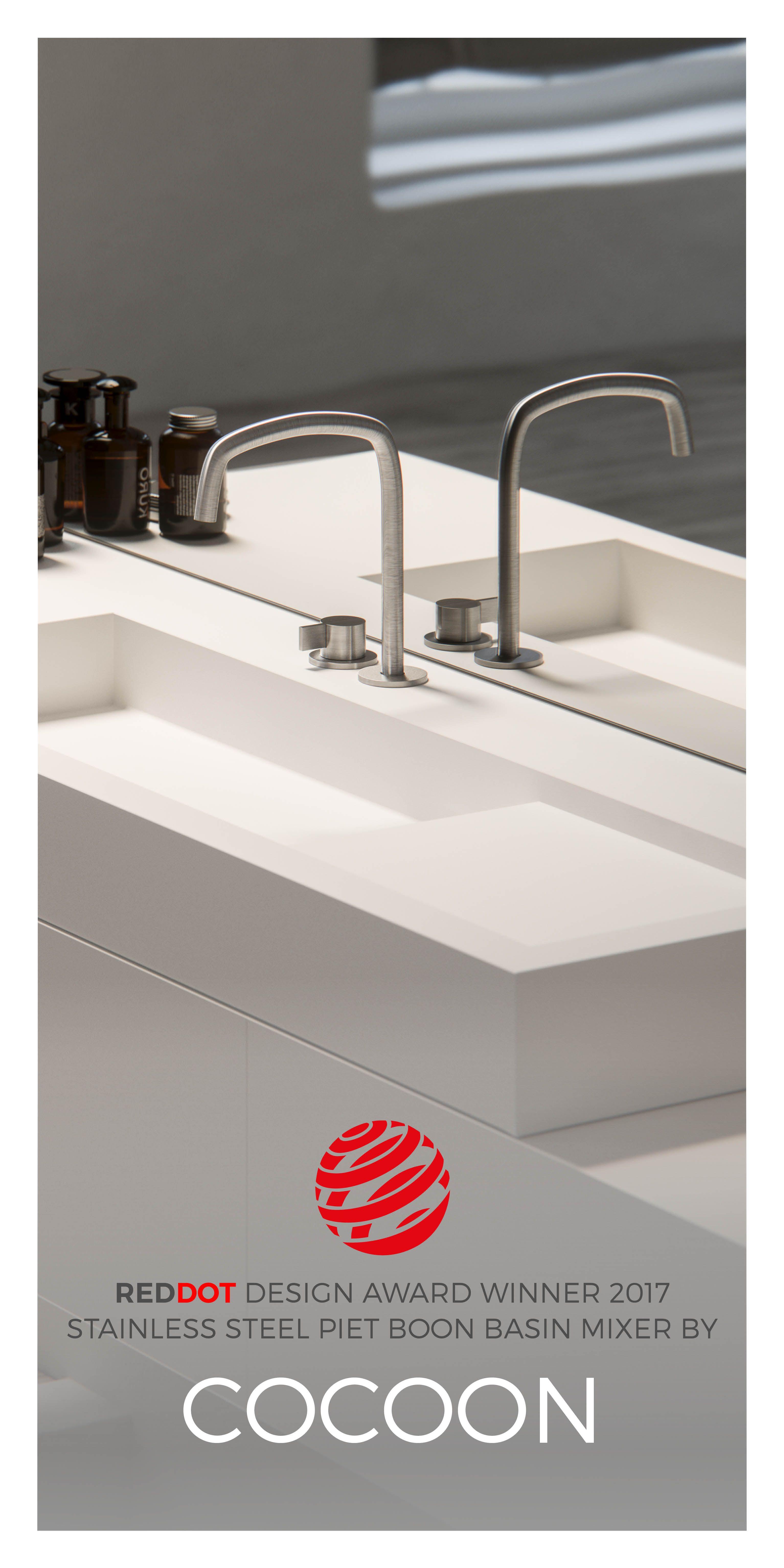 winner of the red dot design award 2017 : piet boon® basin mixer
