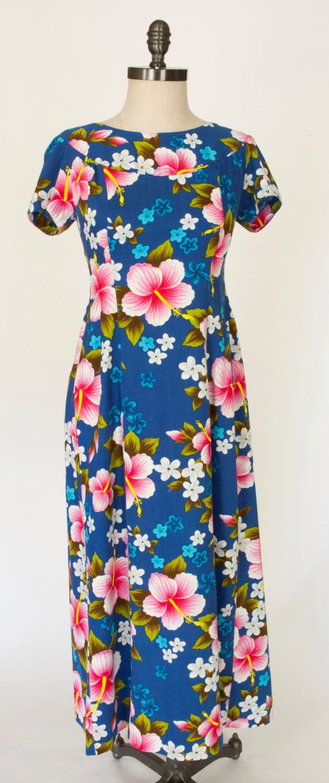 Ui maikai vinage hawaiian dressblue hawaiian dresshibiscus flower ui maikai vinage hawaiian dressblue hawaiian dresshibiscus flower dress by reilvintage izmirmasajfo