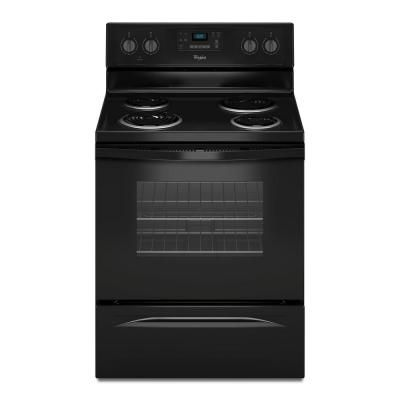 Whirlpool 4 8 Cu Ft Electric Range With Self Cleaning Oven In Black Wfc310s0eb Freestanding Electric Ranges Electric Range Oven Electric Range
