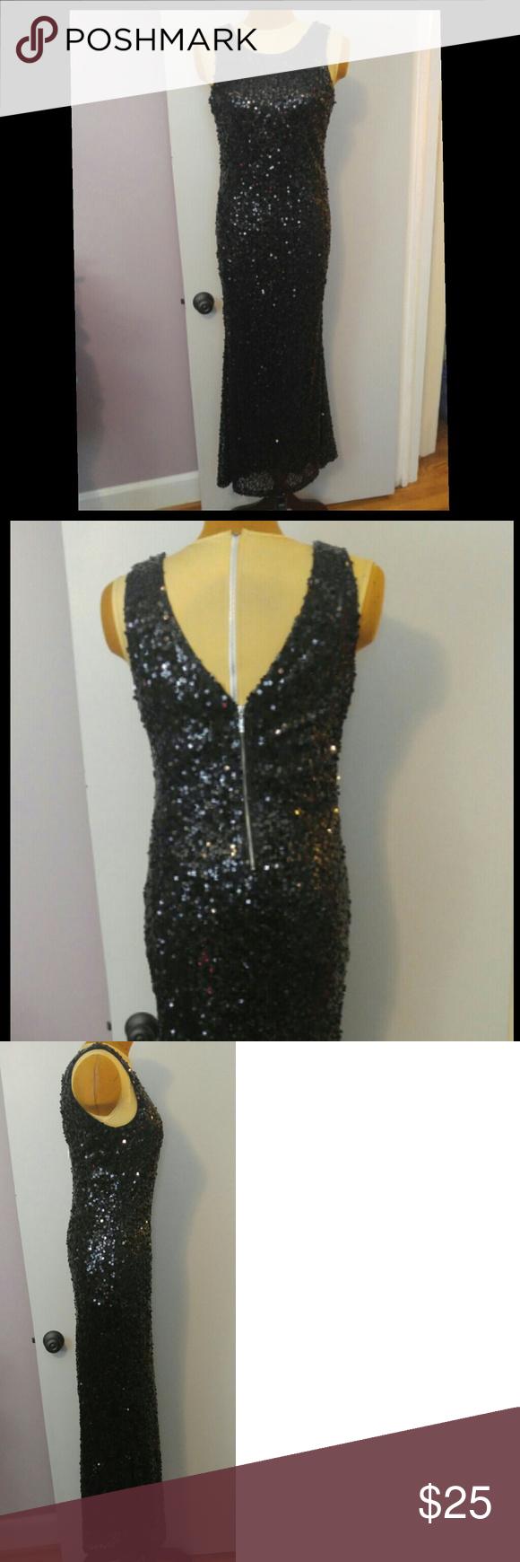Nwt black sequin dress long black sequin dress black sequin dress