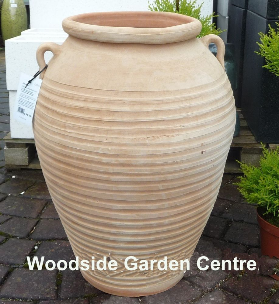Large terracotta aegean garden urn pot vase in garden patio large terracotta aegean garden urn pot vase in garden patio pots window boxes reviewsmspy