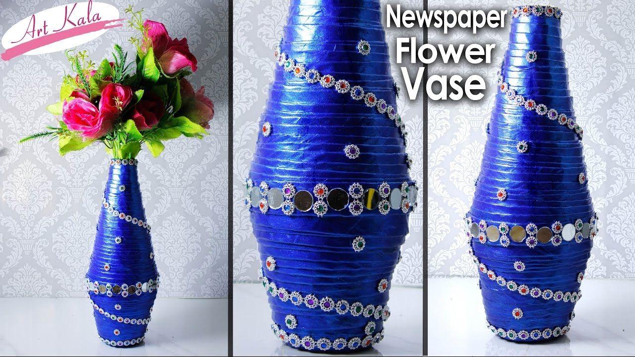 Florero You Tube How To Make Newspaper Flower Vase Newspaper