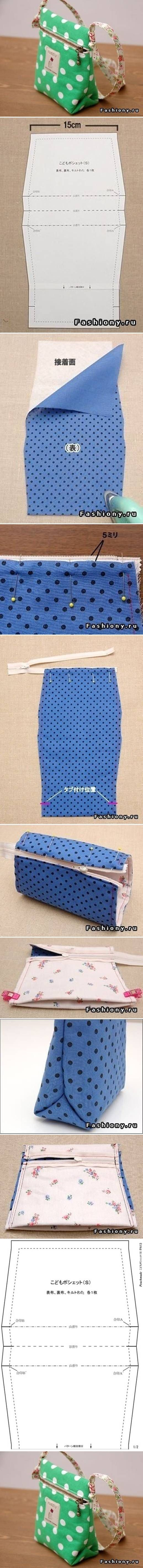 DIY Small Sew Handbag DIY Projects | UsefulDIY.com Follow Us on Facebook ==> http://www.facebook.com/UsefulDiy