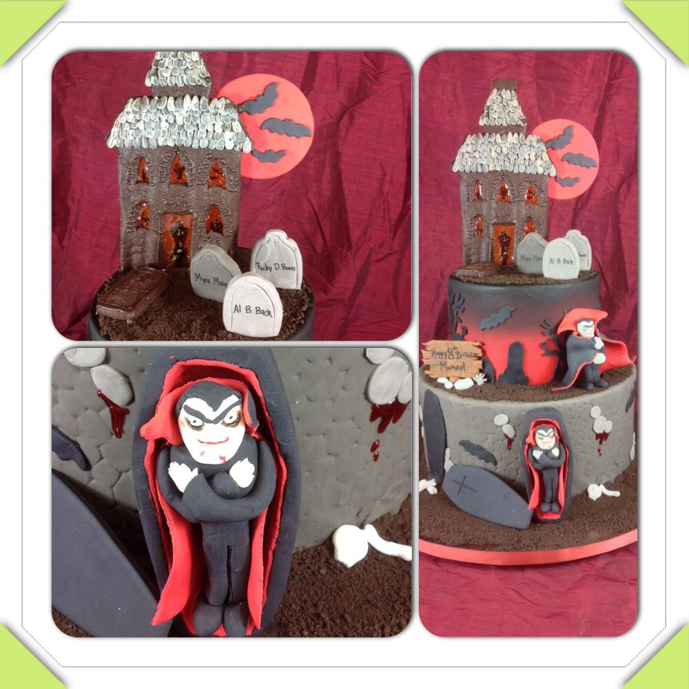 Dracula halloween cake from mother mousse halloween