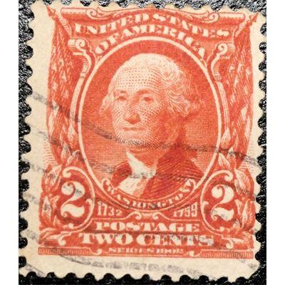 United States George Washington 2 Cents Red 1902 Used