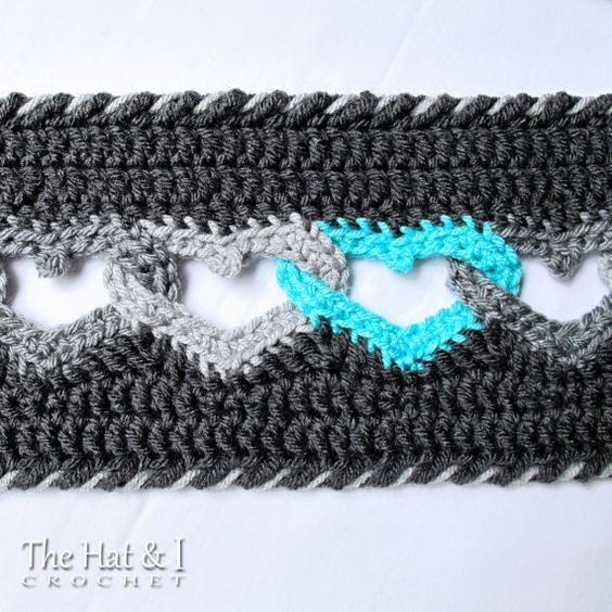 CROCHET PATTERN - Sweetheart Scarf - a crochet heart scarf pattern ...