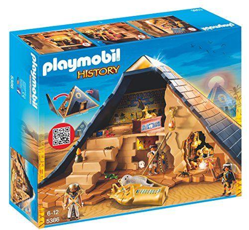Playmobil 5386 Pharaoh/'s Pyramid Treasure Tomb History Set Egyptian Egypt NEW