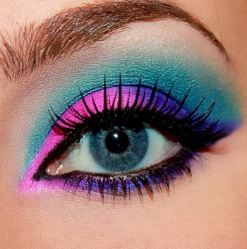 make a statement with neon eye makeup love bright colors