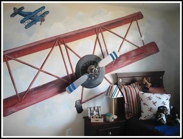 Does my boy love planes enough for a room like this?