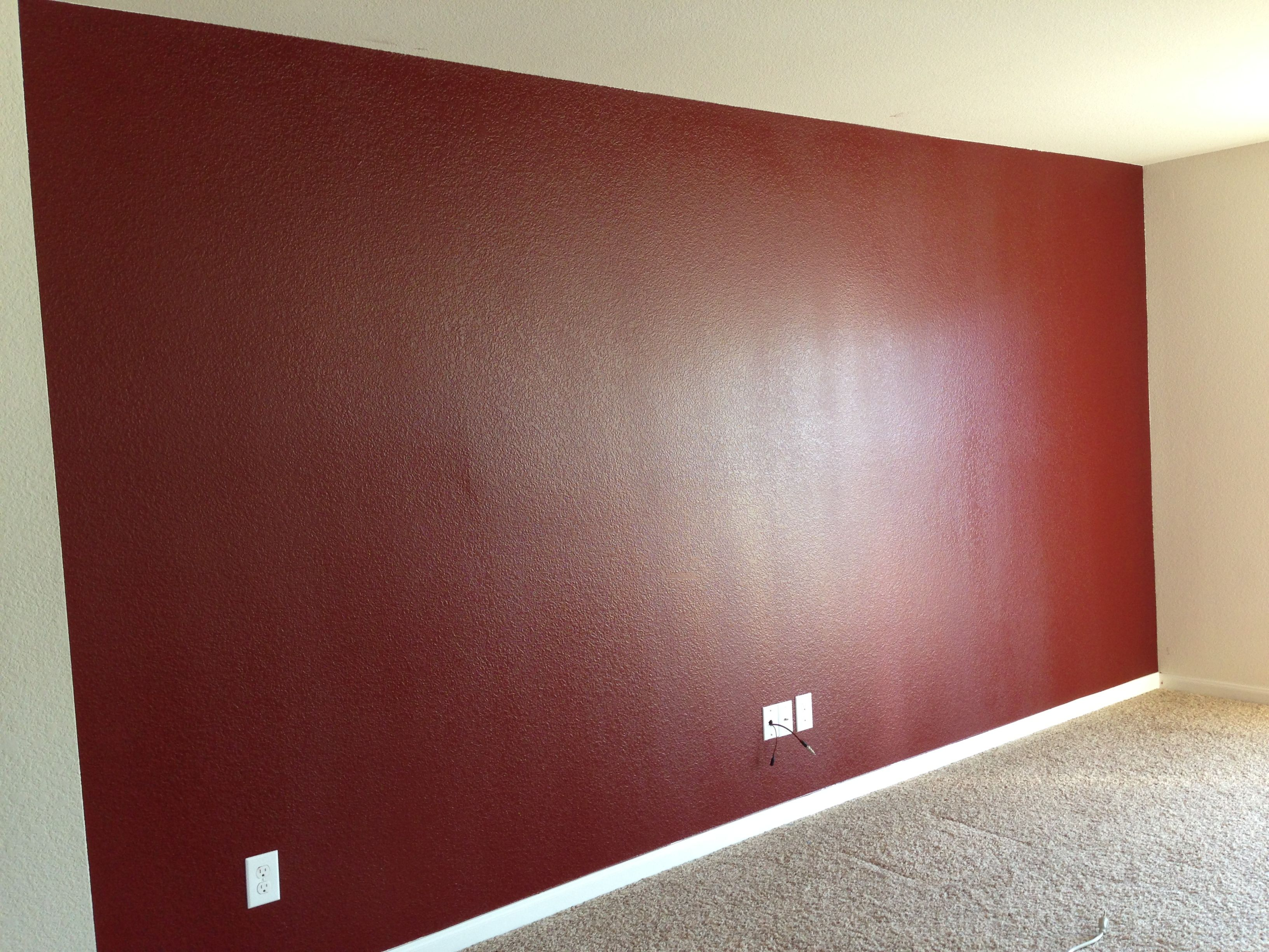My New Accent Wall In Chipotle Paste By Behr Home Decor